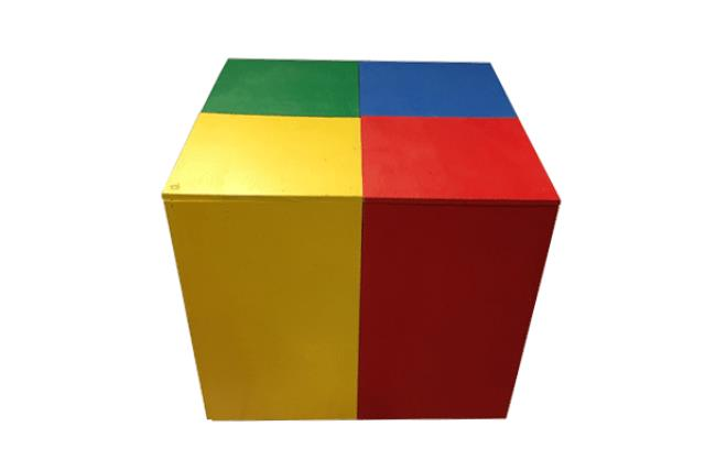 Side Table, Lego Block 2' X 2' (4-color)