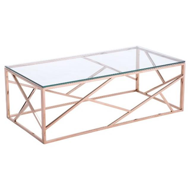 Rose Gold K2 Coffee Table