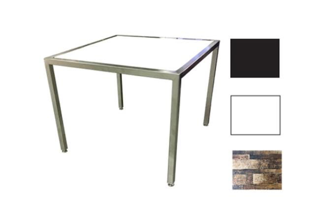 Industrial Metal/plexi Side Table